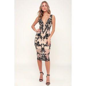 Bardot Embroidered Midi Dress